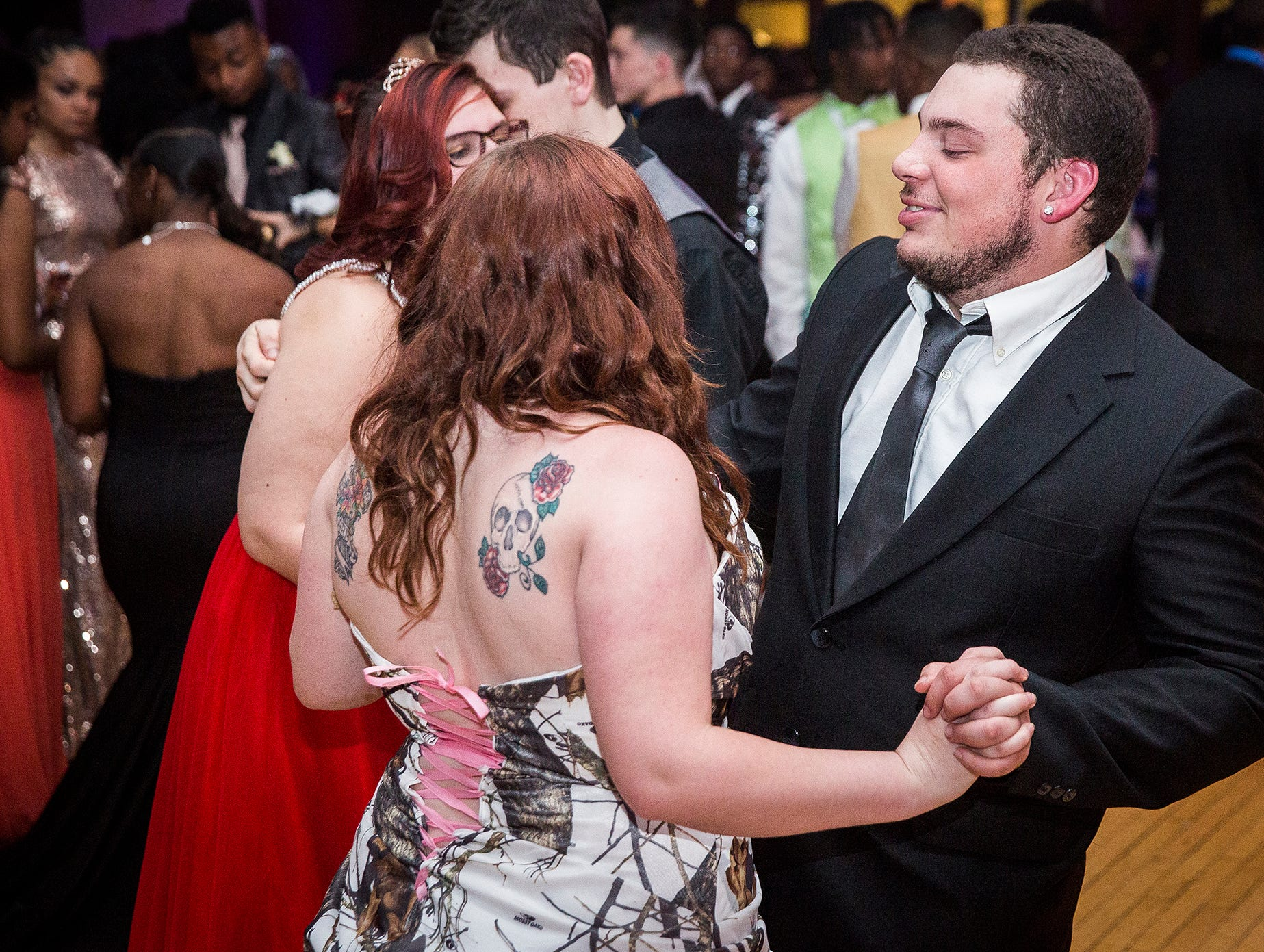 Central students celebrate their 2019 prom at Ball State's Student Center Saturday night.