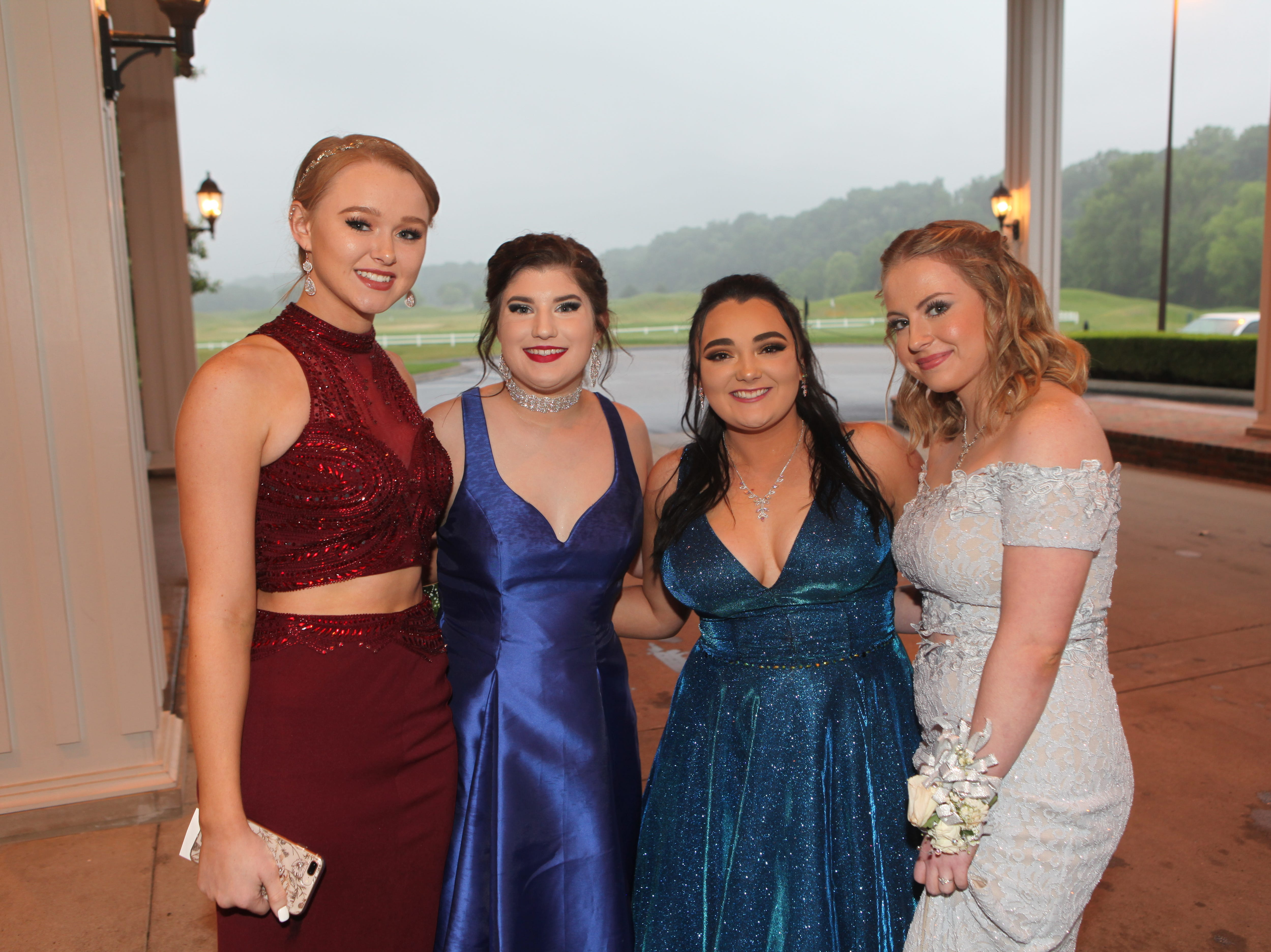 Jordan Odell, Allison Phillips, Brianna Deloach, and Arianna Ray at Sycamore High School's prom on Saturday, May 11, 2019, at Gaylord Springs Golf Links Clubhouse.