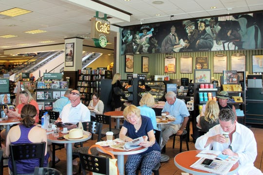 Starbucks coffee is served at the Barnes & Noble Café inside the freestanding bookstore at Waterside Shops on the corner of U.S. 41 and Seagate Drive in Naples.