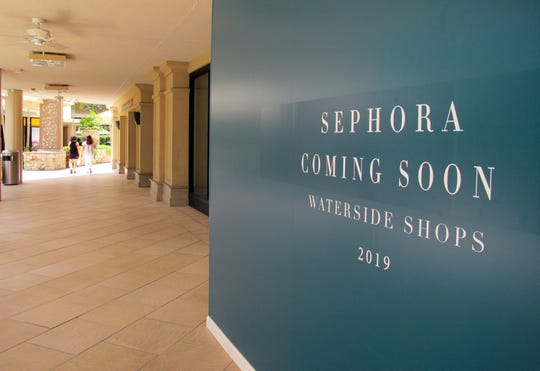 Sephora cosmetics store is one of many new brands coming this year to Waterside Shops in Naples.