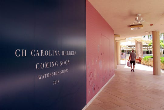 CH Carolina Herrera clothing and accessories store is one of many new brands coming this year to Waterside Shops in Naples.
