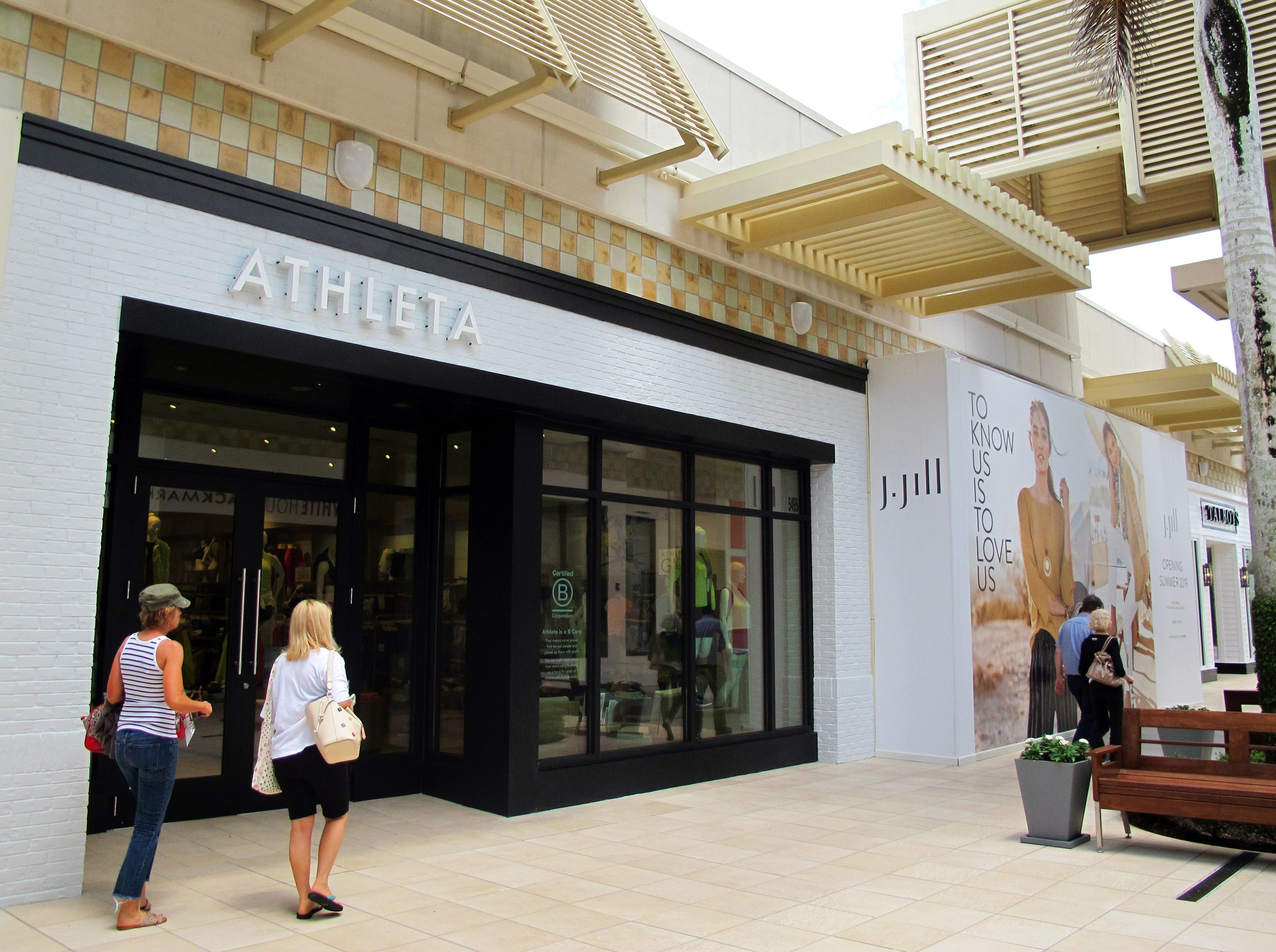 Athleta recently opened and J.Jill, coming next door this summer, are two of many new stores planned this year at Waterside Shops in Naples.