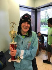 Etta Frankel, 73, was the first finisher of her age group at the 38th Annual Rubin Run on Sunday, May 12, 2019.