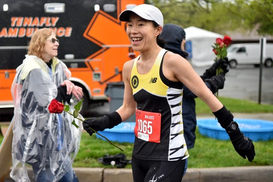 The 38th Rubin Run for Special Needs was held at the Kaplen JCC on the Palisades in Tenafly on Sunday, May 12, 2019. The event included an 8K trail run, a 10K run and a 5K run. Aya Leitz of Jersey City received a rose in honor of Mother's Day, after being the first female runner in the 10k.