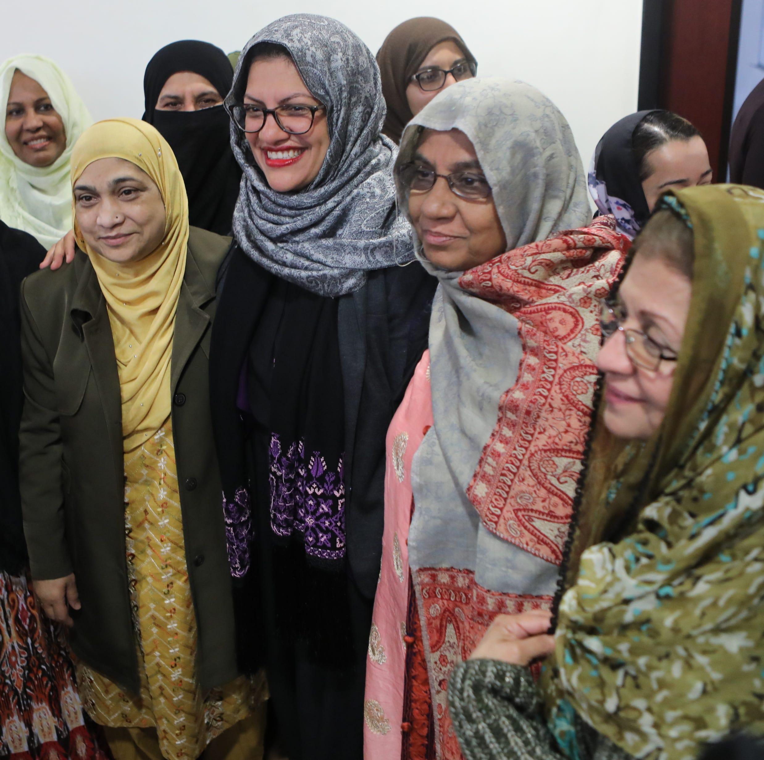 Rep. Rashida Tlaib visits Teaneck mosque on Mother's Day