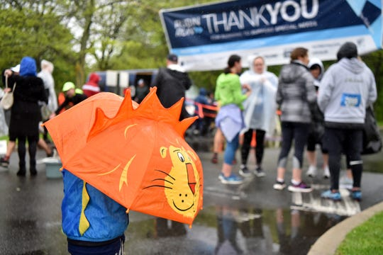 The 38th Rubin Run for Special Needs was held at the Kaplen JCC on the Palisades in Tenafly on Sunday, May 12, 2019. The event included an 8K trail run, a 10K run and a 5K run. A few brave spectators braved the elements to watch the event.
