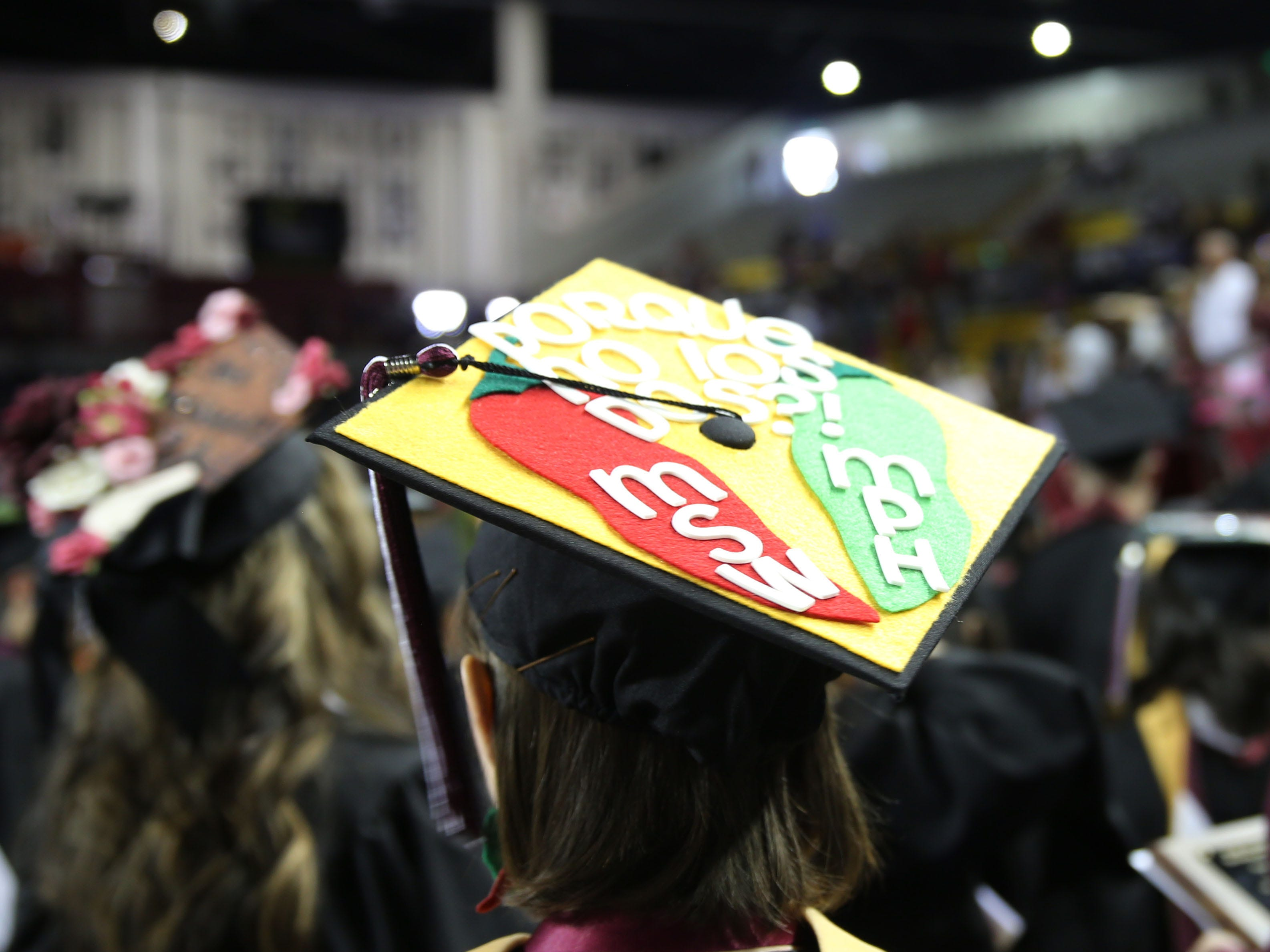 It can't be graduation in New Mexico, without red or green!