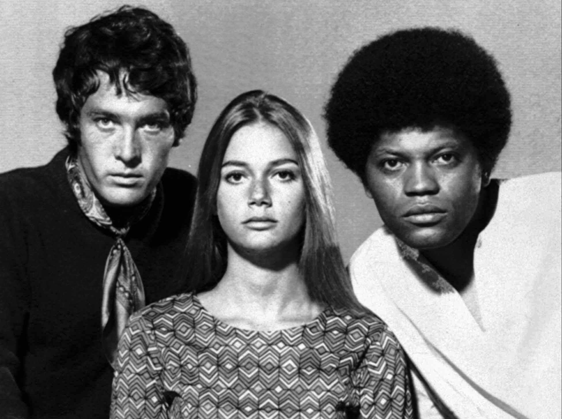 "Michael Cole, left, Peggy Lipton and Clarence Williams III star in ""The Mod Squad."""