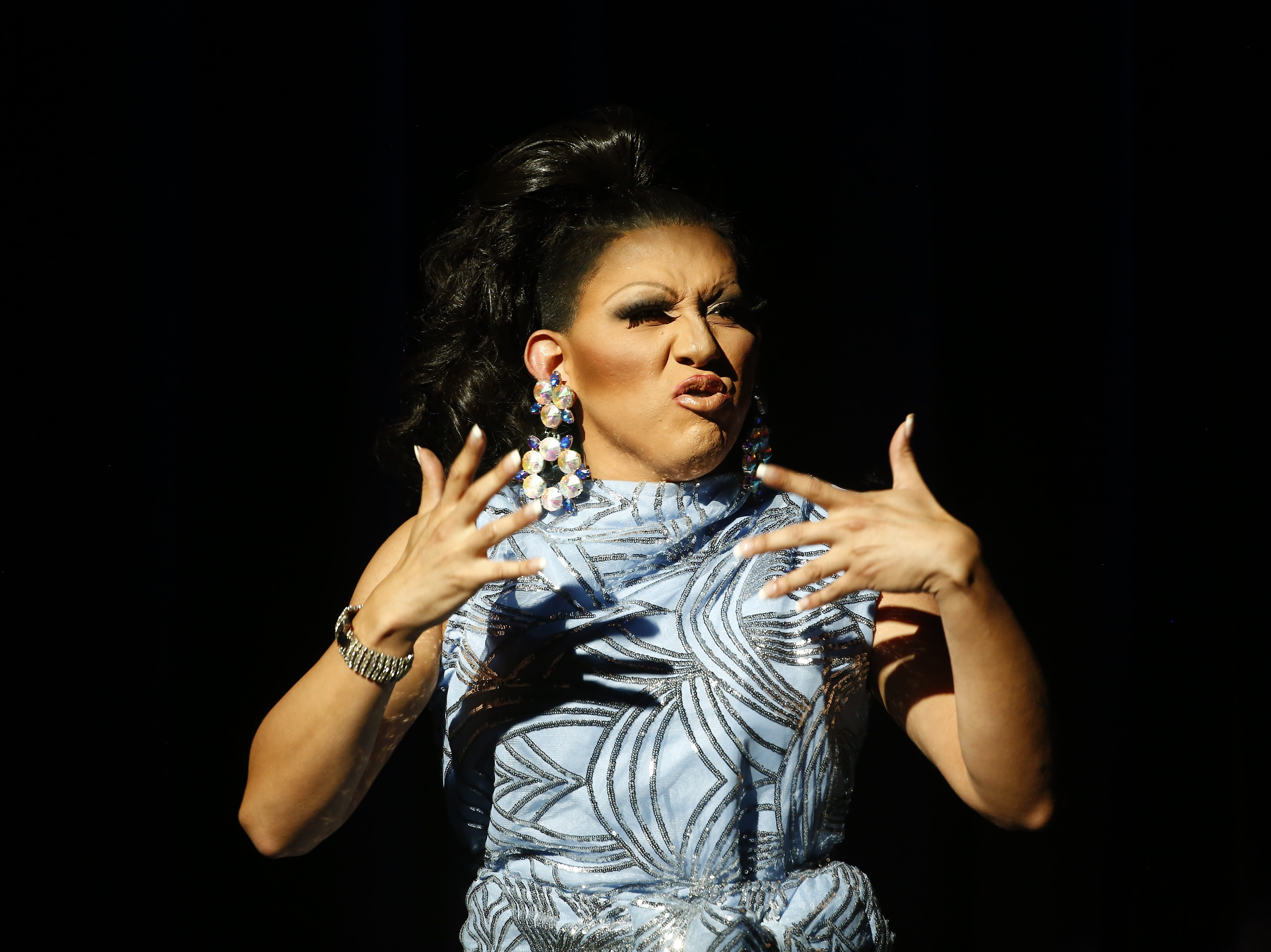 Miss Gay Queen of the Desert America Sicarya performs during the Miss Gay Arizona America pageant 2019 at Tempe Center for the Arts on May 11, 2019.