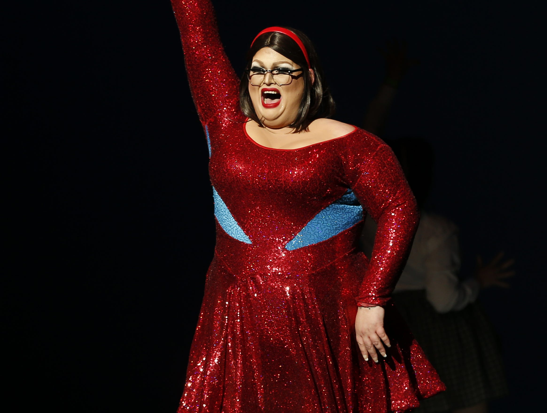 Miss Gay Phoenix America Franzia McKenzie performs during the Miss Gay Arizona America pageant 2019 at Tempe Center for the Arts on May 11, 2019.