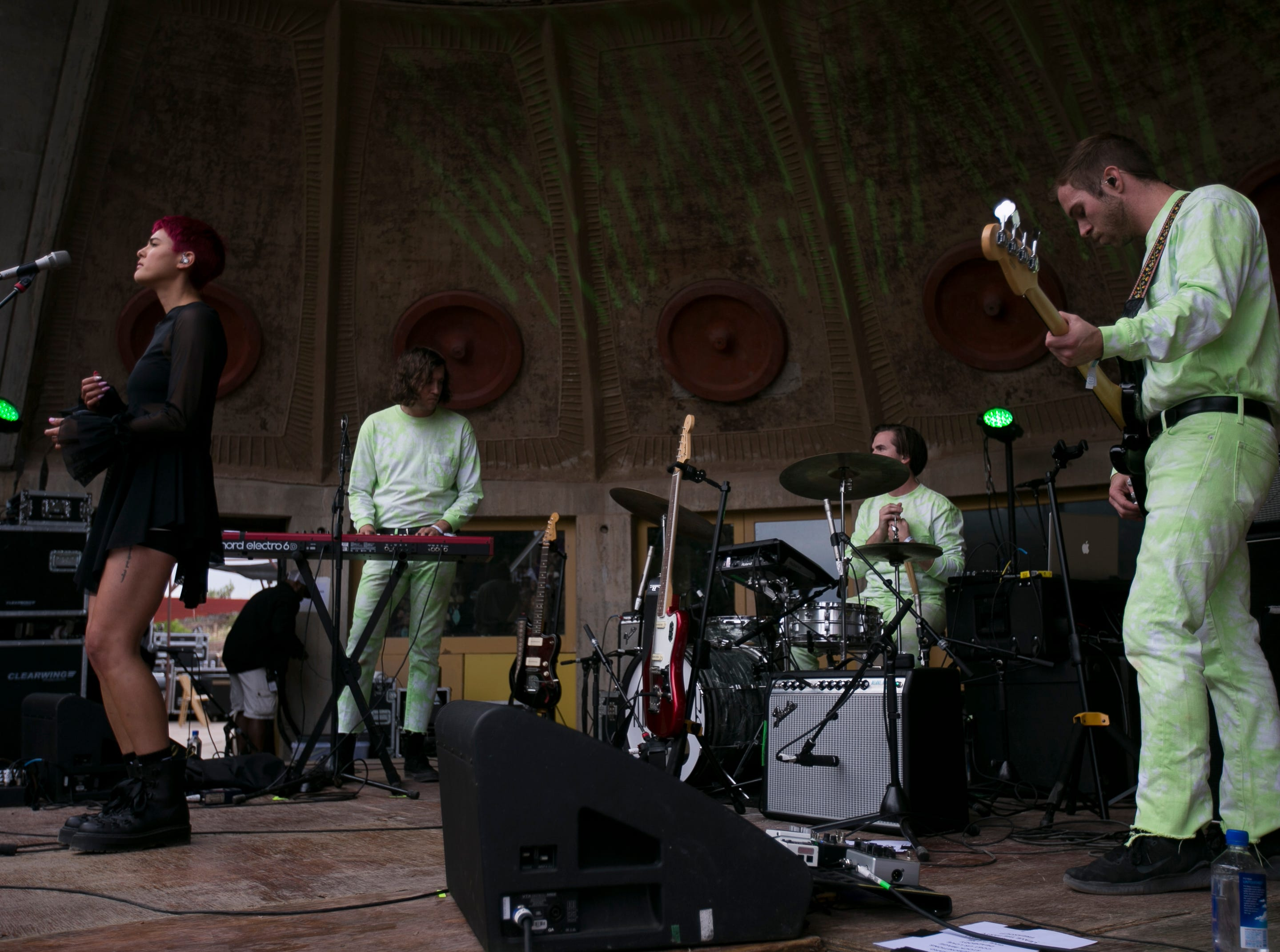 Miya Folick performs at the 2019 FORM Arcosanti music festival near Camp Verde, Arizona, on May 11, 2019.