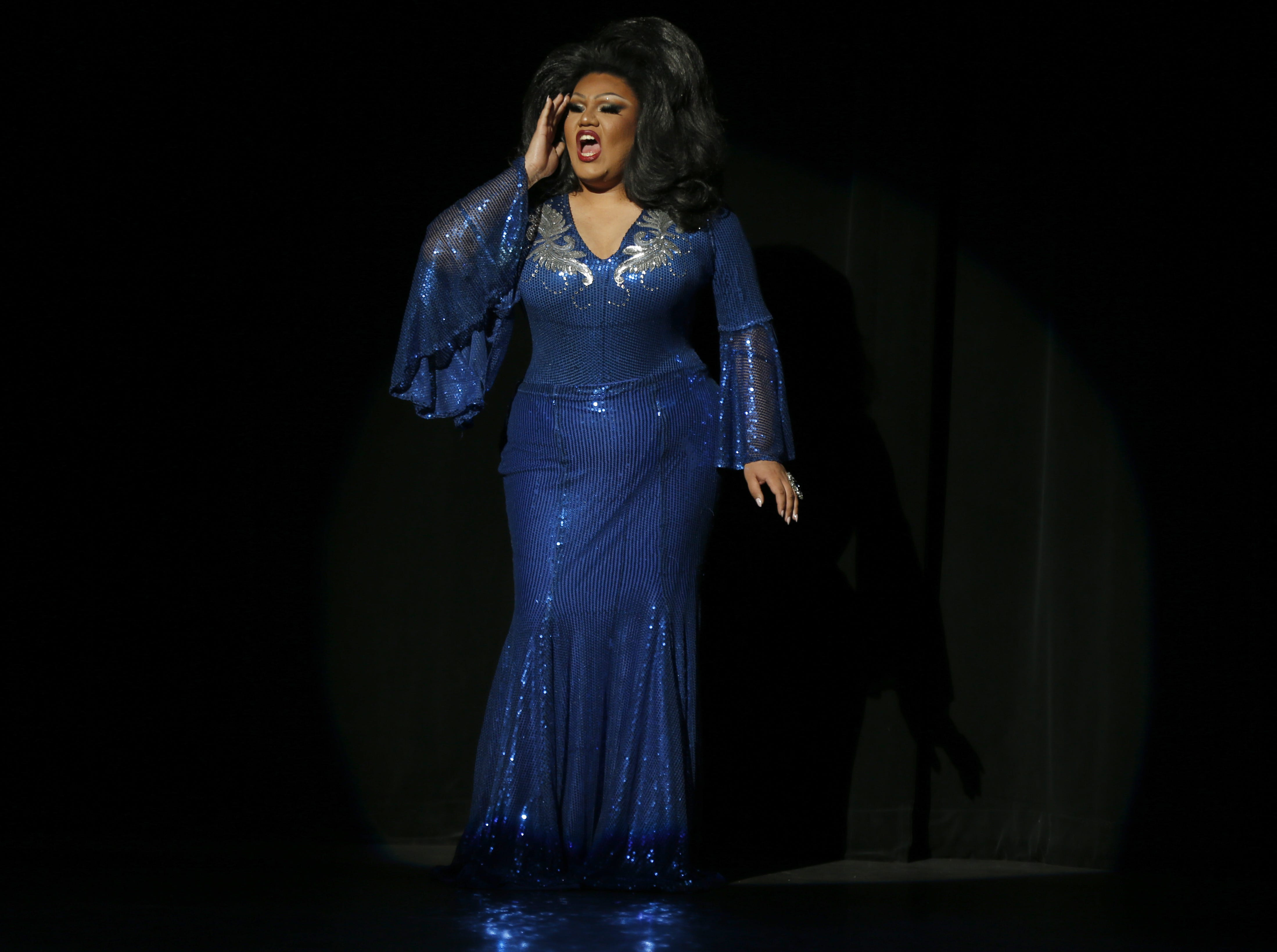 Miss Gay Phoenix America first alternate Felix performs during the Miss Gay Arizona America pageant 2019 at Tempe Center for the Arts on May 11, 2019.