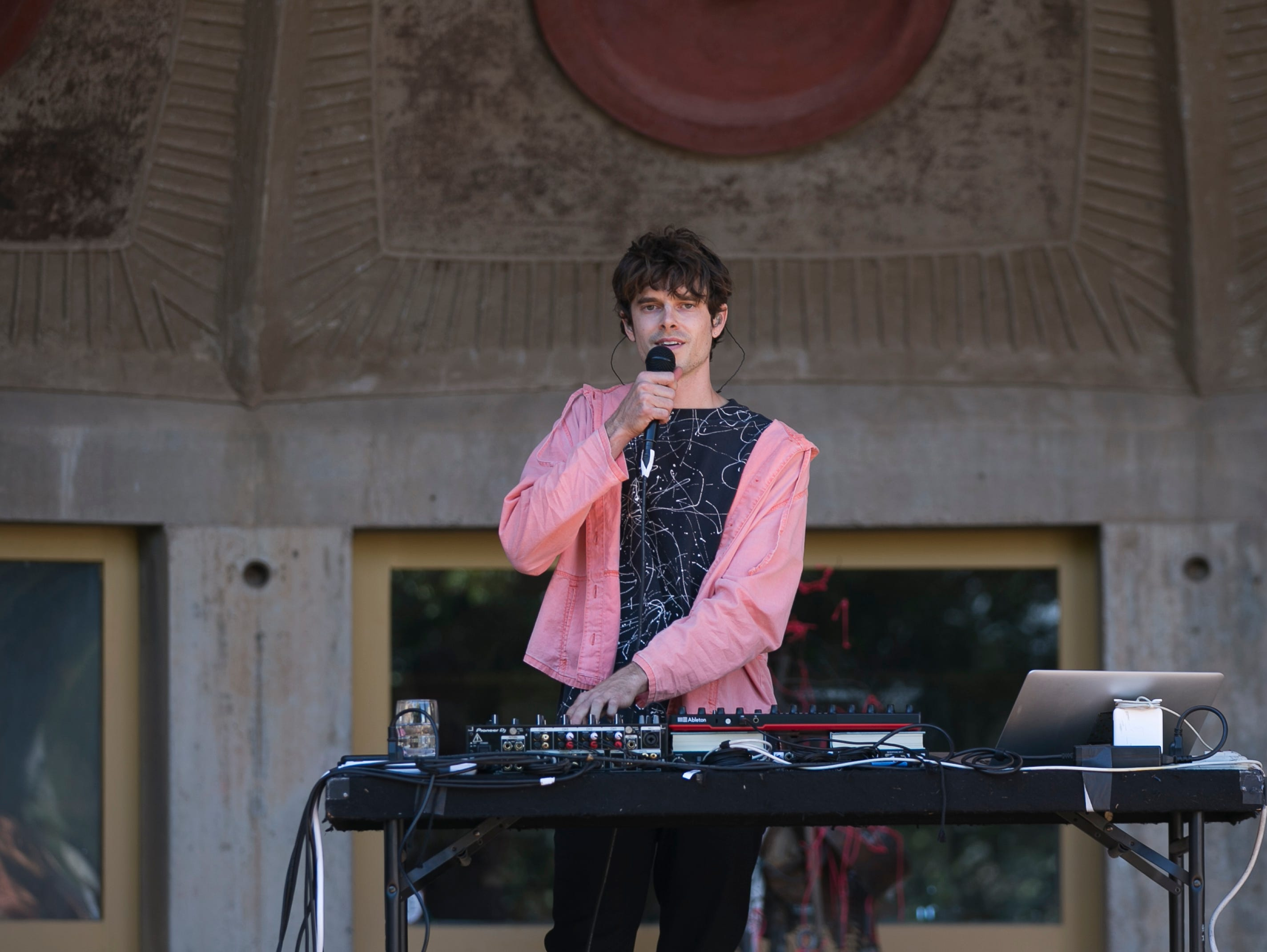 Trayer performs at the 2019 FORM Arcosanti music festival near Camp Verde, Arizona, on May 12, 2019.