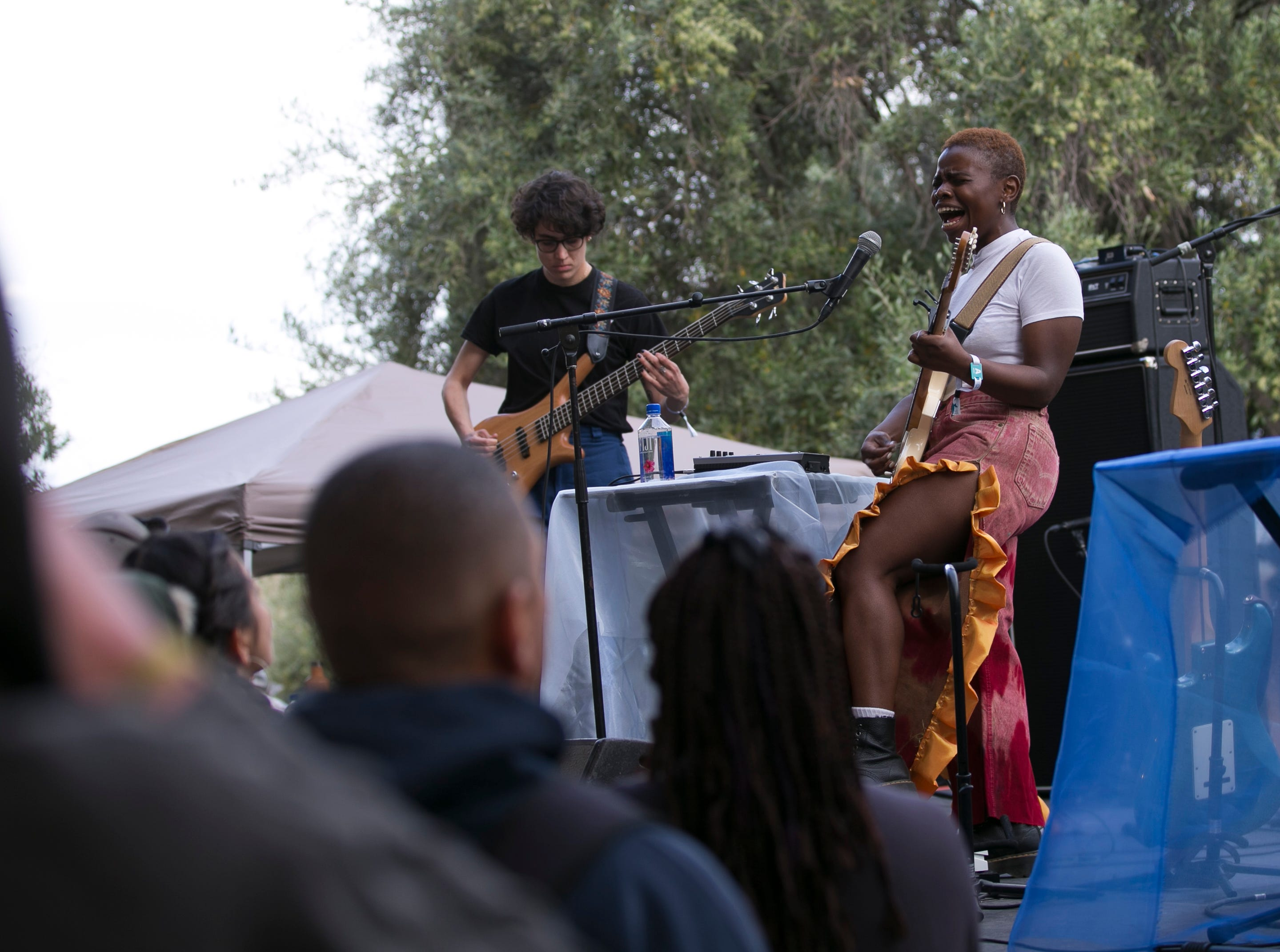 Vagabon performs at the 2019 FORM Arcosanti music festival near Camp Verde, Arizona, on May 11, 2019.