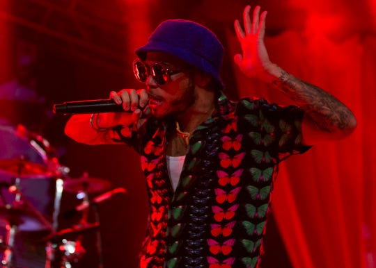 Anderson .Paak and the Free Nationals perform at the 2019 FORM Arcosanti music festival near Camp Verde, Arizona, on May 11, 2019.