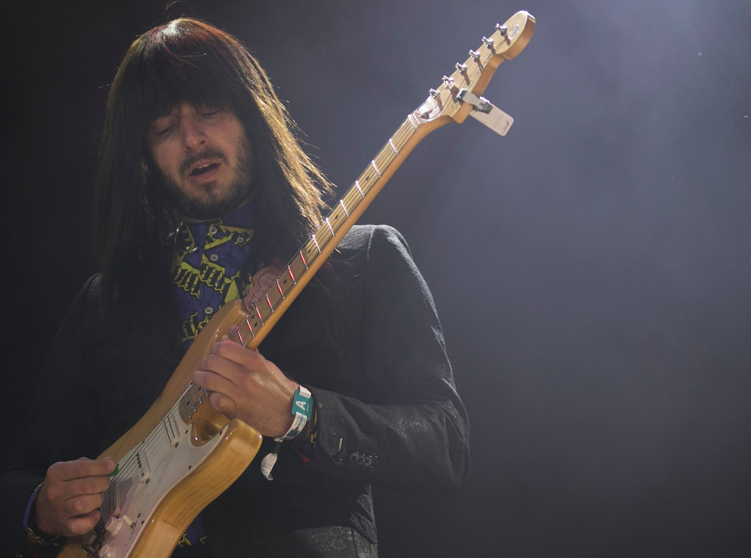 Khruangbin performs at the 2019 FORM Arcosanti music festival near Camp Verde, Arizona, on May 11, 2019.