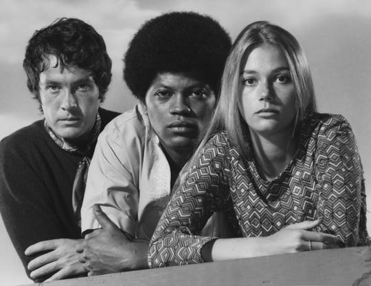 "Michael Cole (from left), Clarence Williams III and Peggy Lipton star in ""The Mod Squad."""