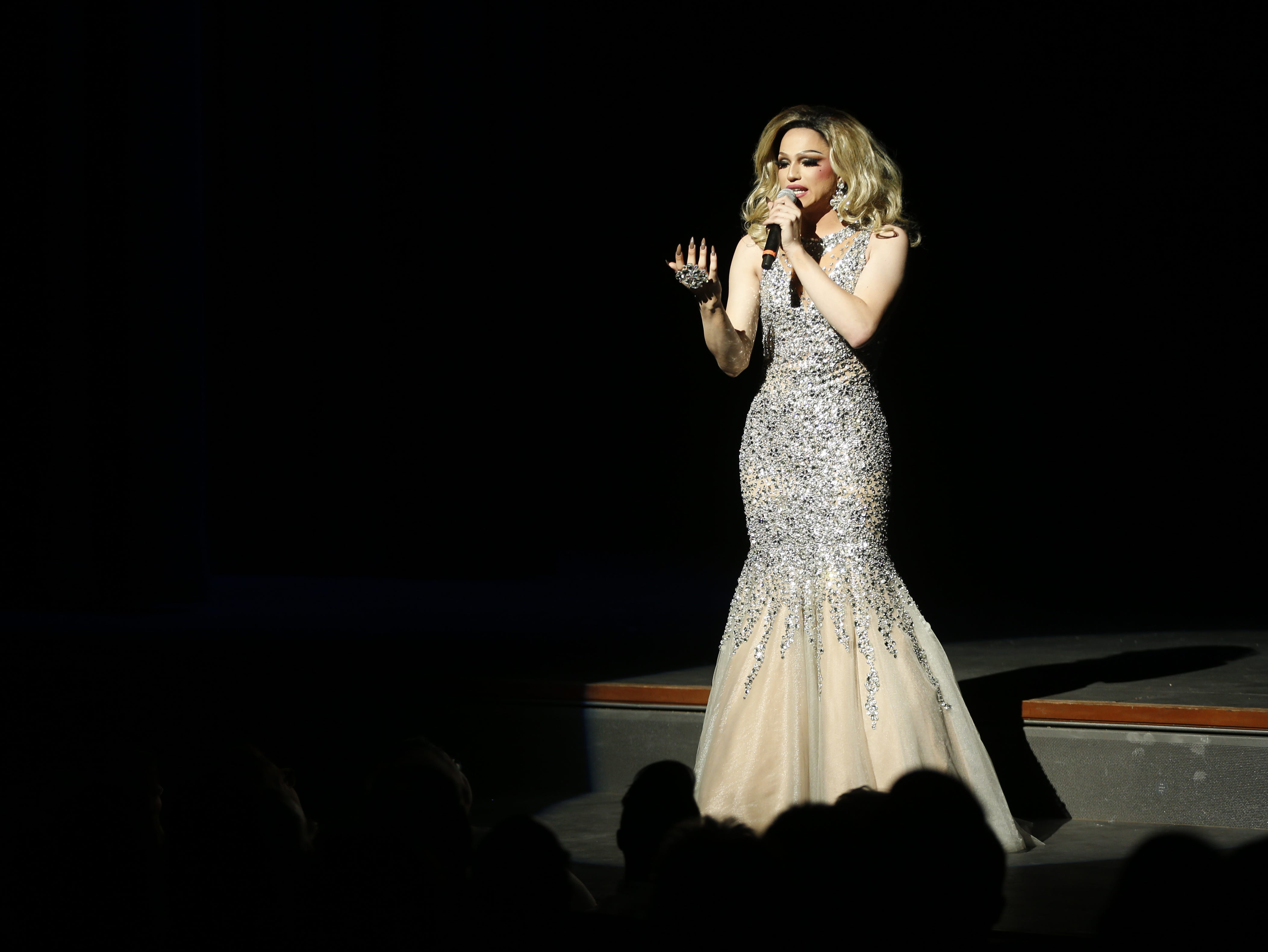 Miss Gay Tucson America Venus Moon Starr performs during the Miss Gay Arizona America pageant 2019 at Tempe Center for the Arts on May 11, 2019.
