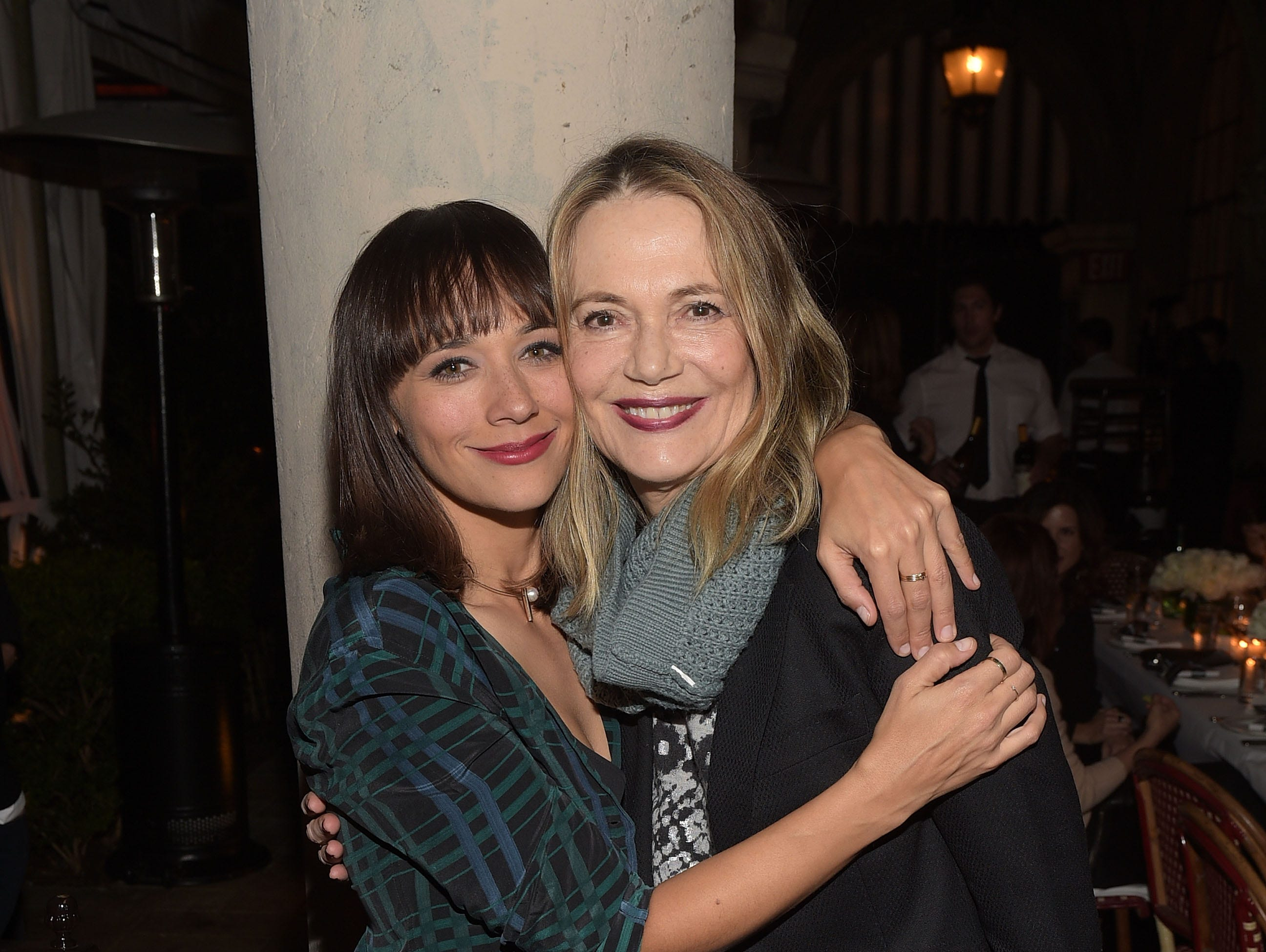 Rashida Jones (left) and Peggy Lipton attend the Equipment and Vanity Fair Dinner hosted by Rashida Jones and Krista Smith at Chateau Marmont on Dec. 8, 2015, in Los Angeles.