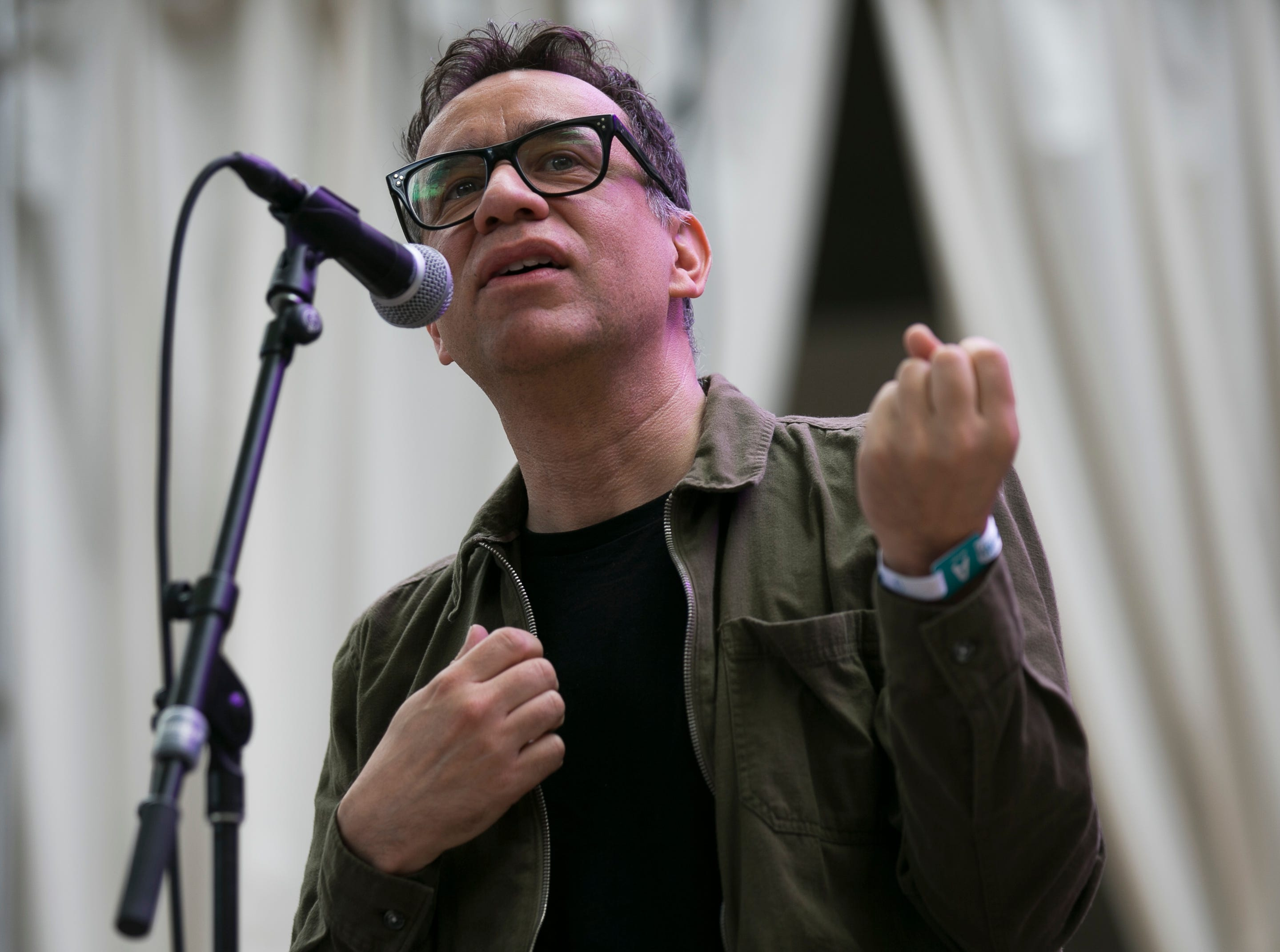Fred Armisen performs at the 2019 FORM Arcosanti music festival near Camp Verde, Arizona, on May 12, 2019.