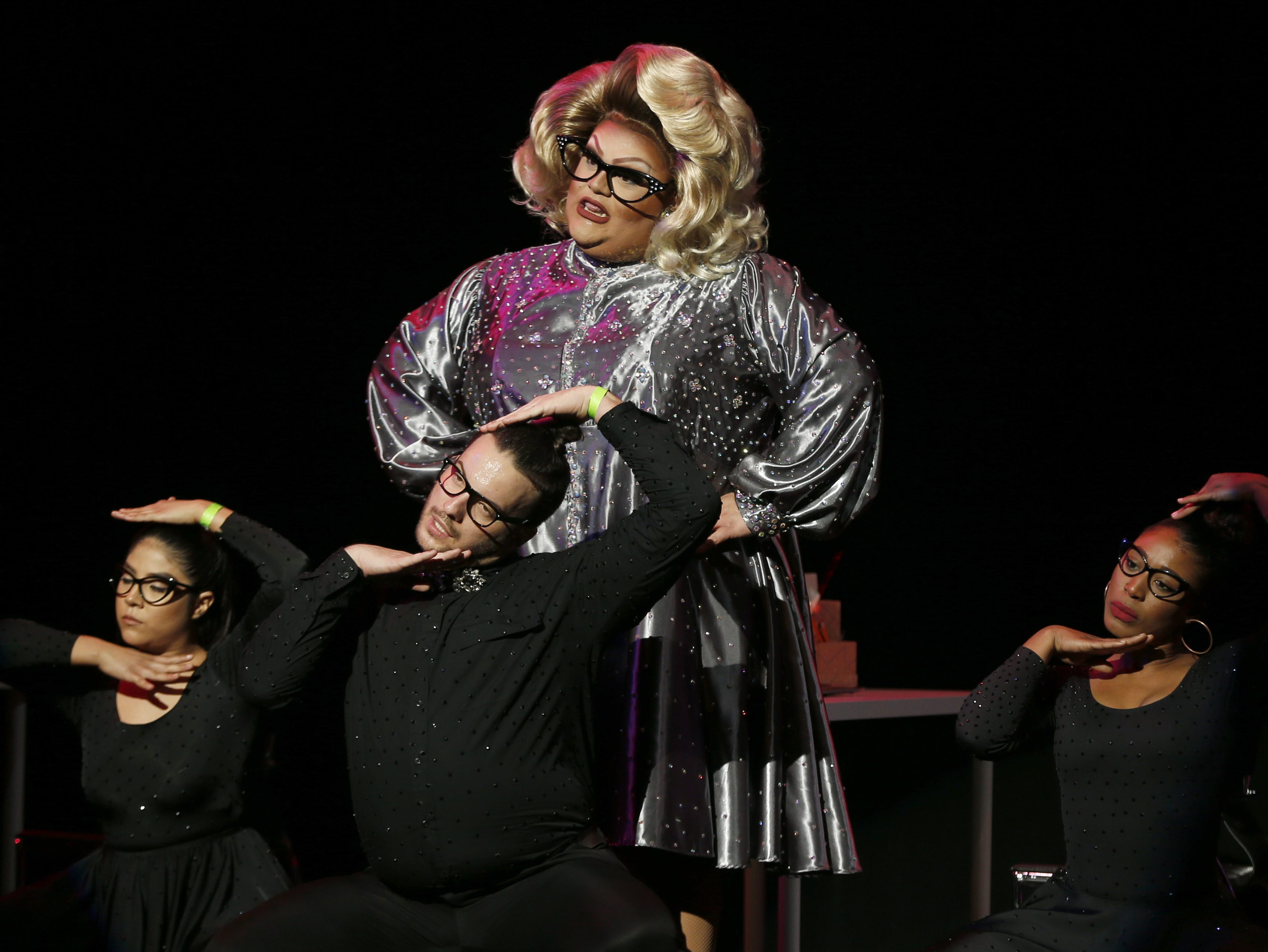 Espressa Grande performs during the talent section of the Miss Gay Arizona America pageant 2019 at Tempe Center for the Arts on May 11, 2019. Espressa Grande would go on to win the crown.