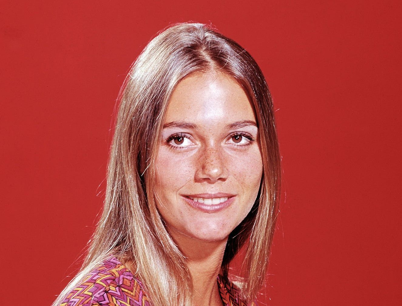 "Peggy Lipton at the height of her success on ""The Mod Squad."""