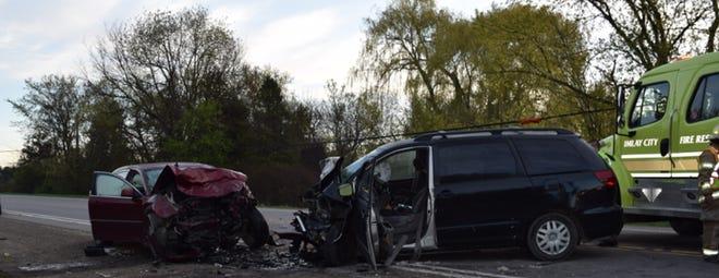 A Sandusky man was killed in a crash early Saturday in Imlay Township.
