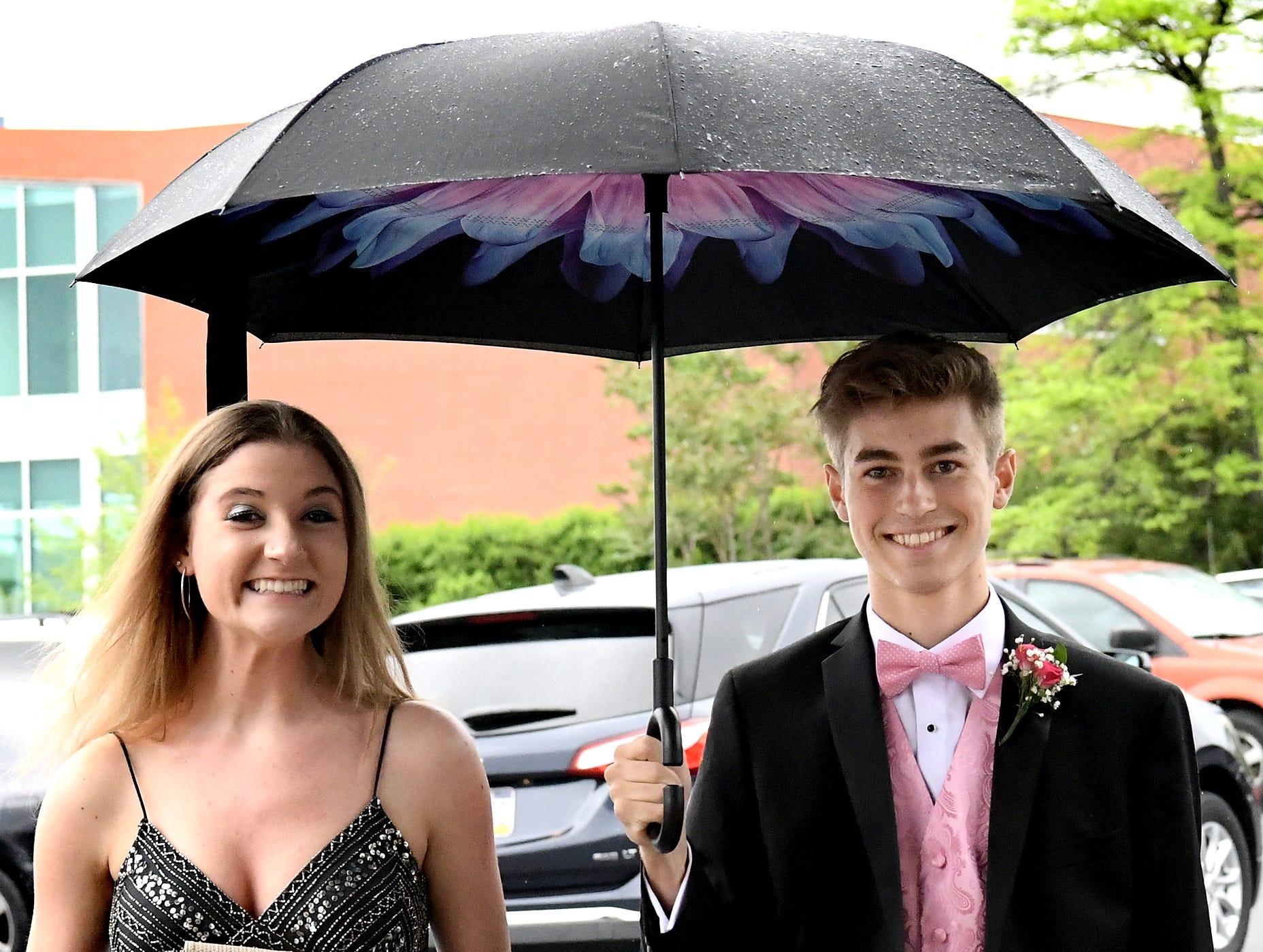 Reagan Starrett and Matthew Malhenzie arrive at the Red Land High School Prom at Red Lion Hotel in Harrisburg Saturday, May 11, 2019. Bill Kalina photo