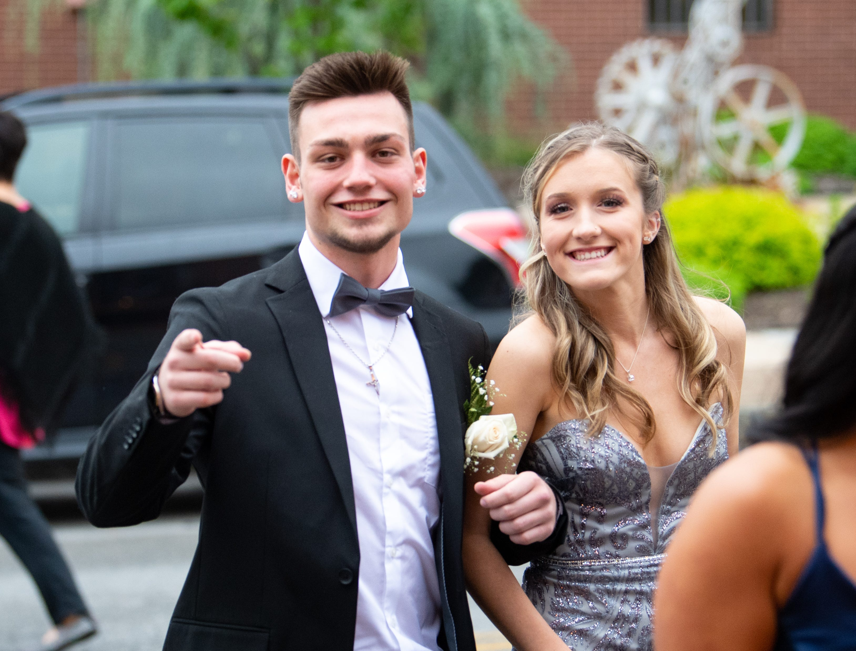 Students and their guests arrive at the Valencia Ballroom, Saturday, May 11, 2019 for the York Suburban High School prom.
