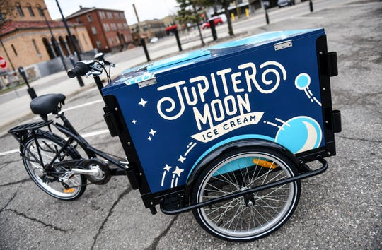 The Jupiter Moon Ice Cream cycle is pictured Saturday, May 11, in St. Cloud.