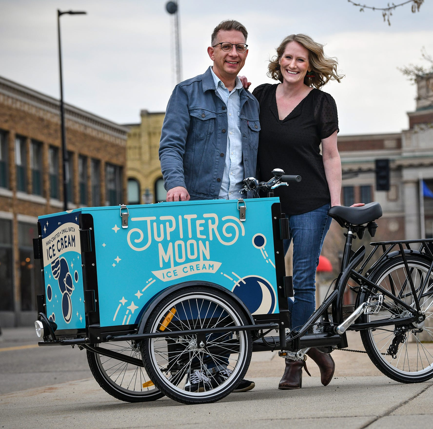 Jupiter Moon handmade, small batch ice cream rolling into St. Cloud this summer
