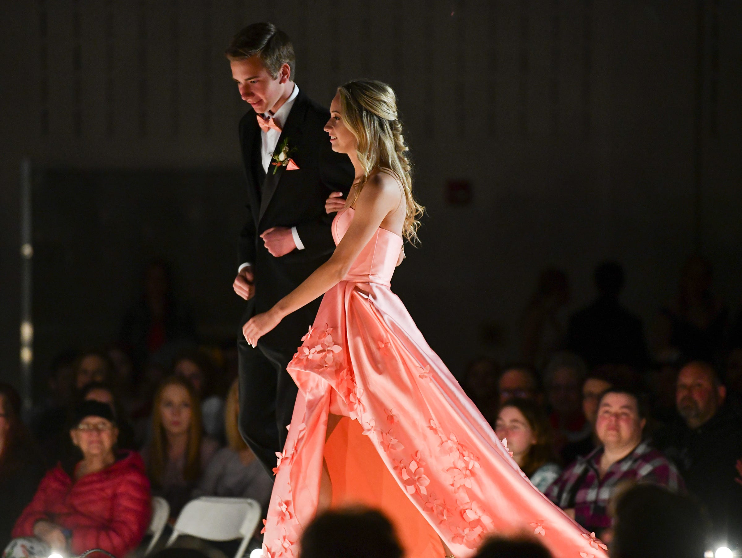 Couples take part in prom grand march Saturday, May 11, at Sauk Rapids-Rice High School.