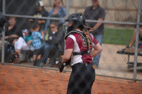 Cedar catcher Brittnie Simcox smacked a three-run home run against Mountain Crest on Saturday.