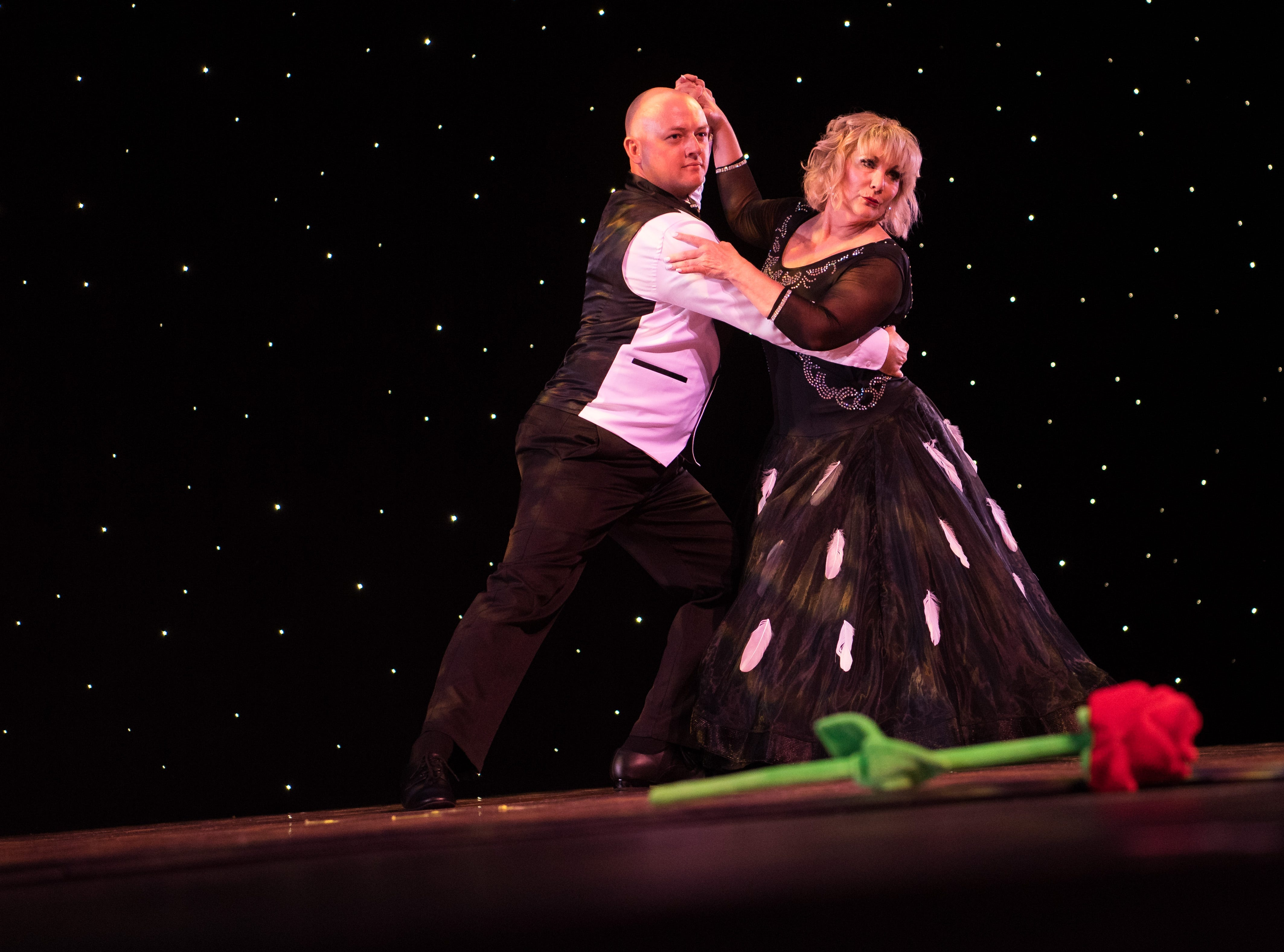 Curtis Carpenter and Karren Walter perform at the 11th annual Dancing with Vero's Stars on Saturday, May 11, 2019, at Riverside Theatre in Vero Beach. Ten couples competed for a mirror ball trophy during the event, which raised funds for Indian River County Healthy Start Coalition.