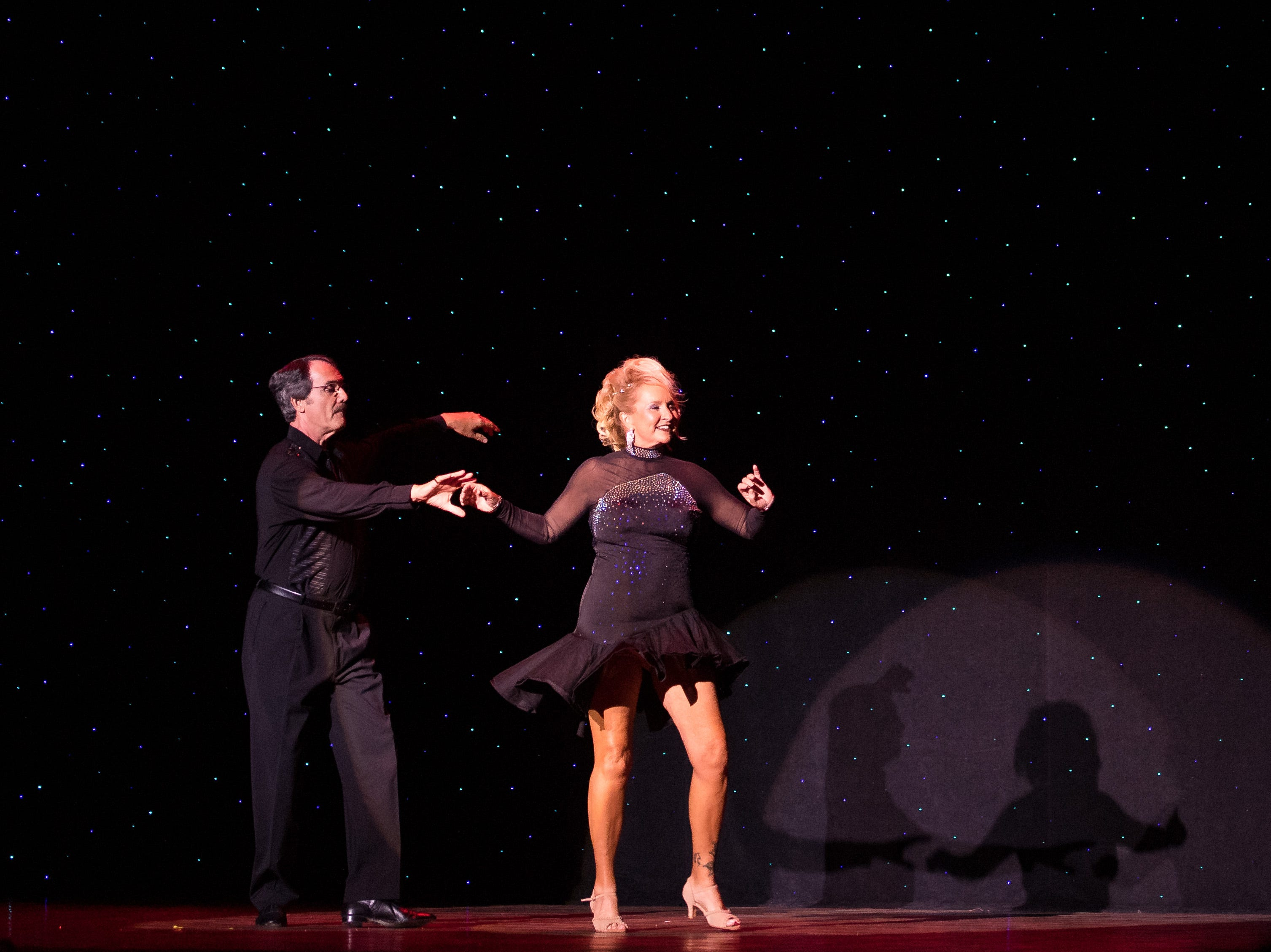 Top online fundraisers and first runners-up Kelly Donovan and Robert Scott perform at the 11th annual Dancing with Vero's Stars on Saturday, May 11, 2019, at Riverside Theatre in Vero Beach. Ten couples competed for a mirror ball trophy during the event, which raised funds for Indian River County Healthy Start Coalition.
