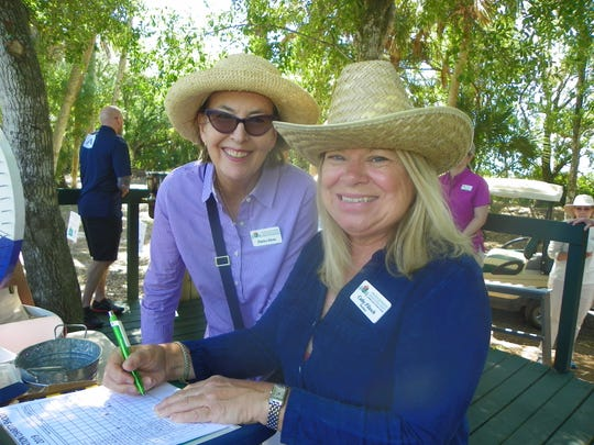 Patrice Stowe, left, and Education Foundation Board President Cathy Filusch at the Education Foundation of Indian River County's 19th annual Charity Shoot at Windsor's Gun Club.