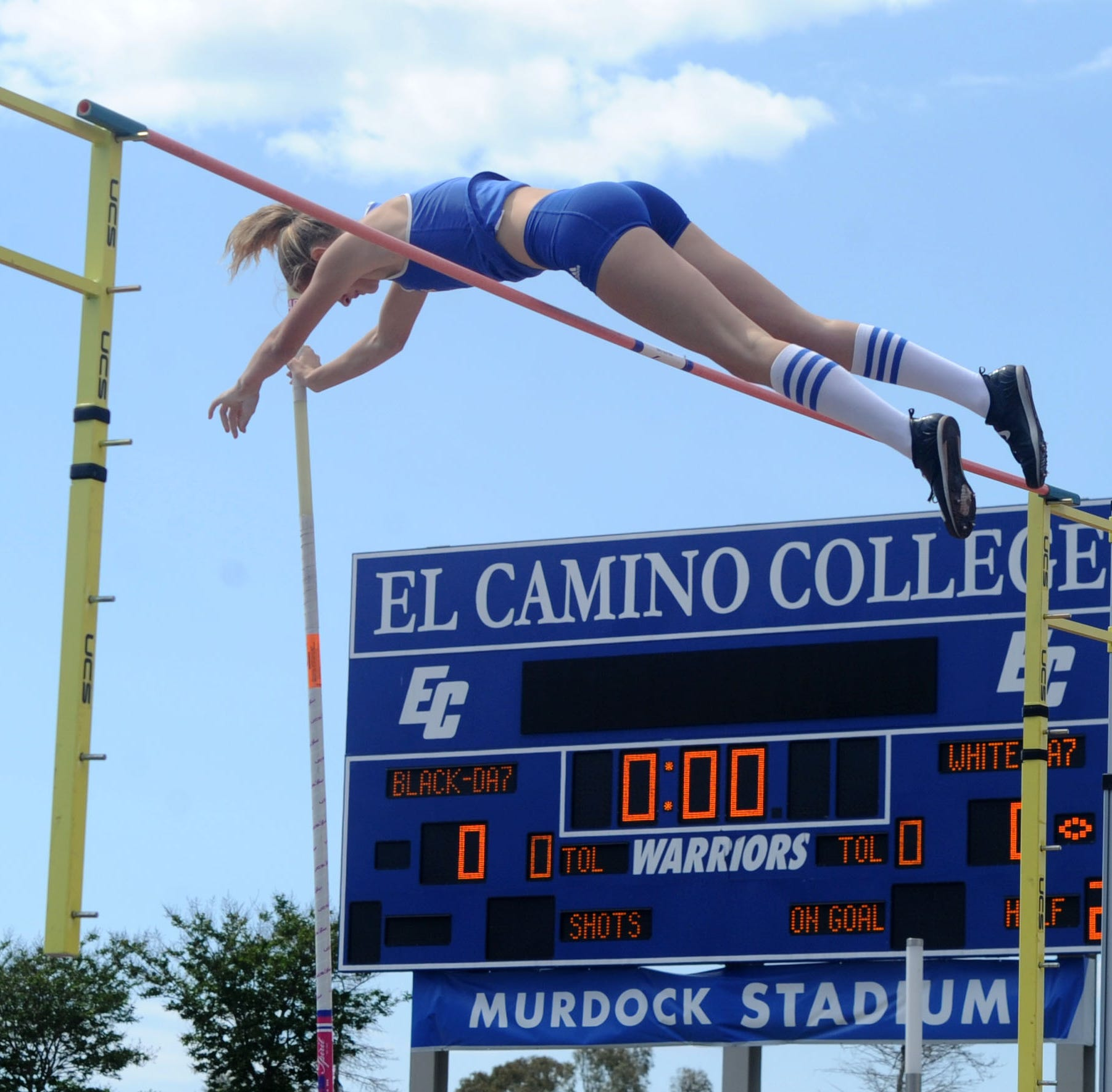 Westlake's Paige Sommers made track history in two places at once on Saturday