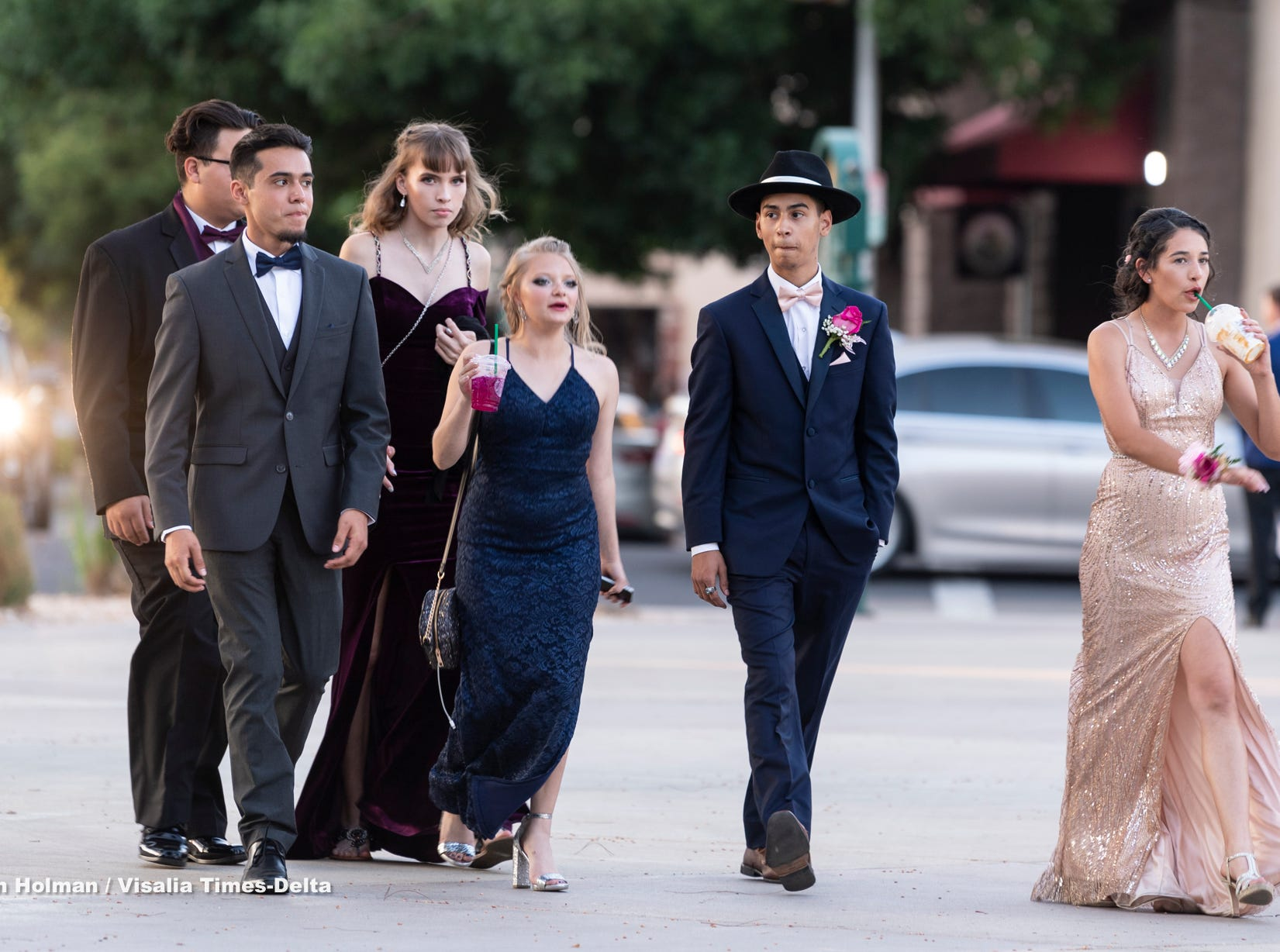 Visalia Unified School District's High School prom on Saturday, May 11, 2019.