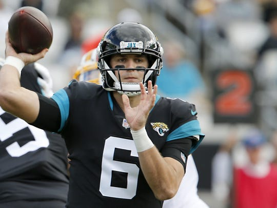 Cody Kessler, who will sign with the Eagles on Monday, started four games for the Jacksonville Jaguars last season.