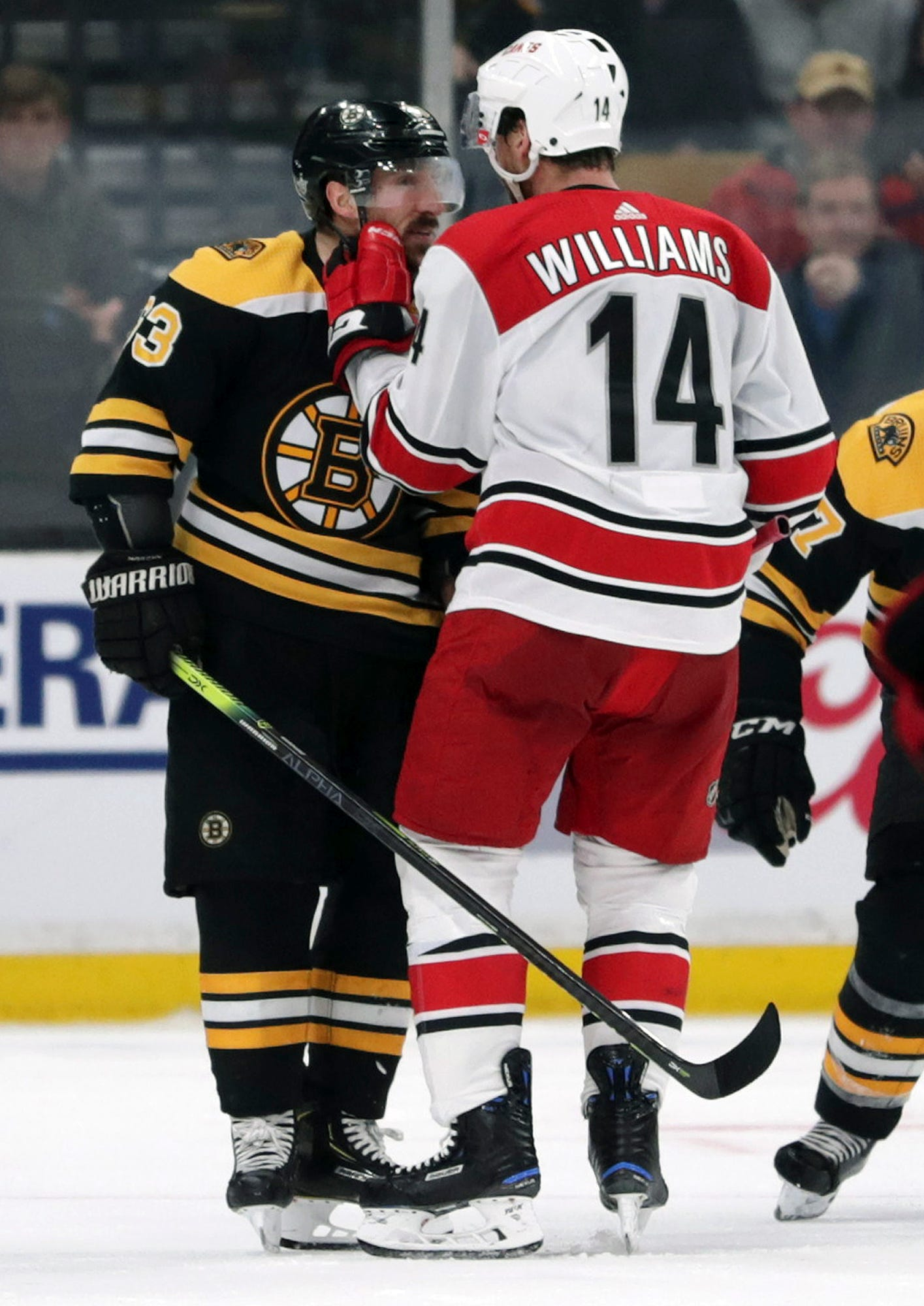 Brad Marchand draws controversial penalty on Justin Williams, mocks Hurricanes captain