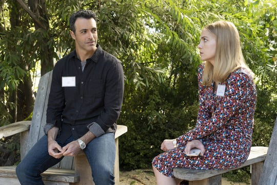 The up-and-down relationship of political operatives Dan (Reid Scott), left, and Amy (Anna Chlumsky) has been a 'Veep' highlight.
