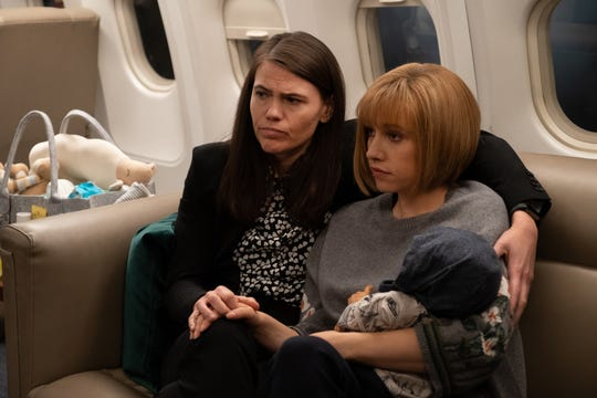 Marjorie (Clea DuVall), left, and Selina's daughter, Catherine (Sarah Sutherland), have forged a strong relationship on 'Veep.'