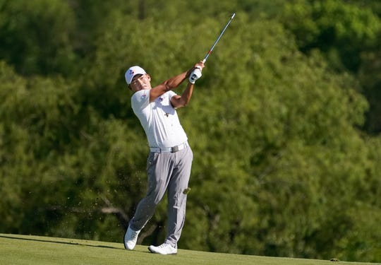 Sung Kang playing the 15th hole, earned his first PGA Tour victory Sunday at the AT&T Byron Nelson golf tournament.