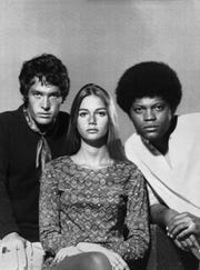 "Michael Cole, left, Peggy Lipton and Clarence Williams III starred in ""The Mod Squad."""