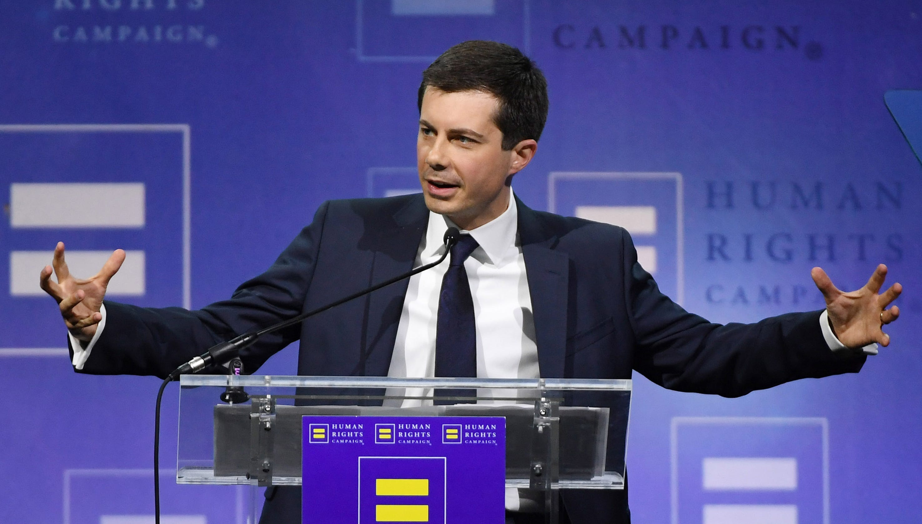 Pete Buttigieg Says Donald Trump Divides With White
