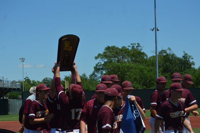 Simpson won the Class C state title in baseball for the first time since 2007 after a 15-5 win in the Class C championship game over Summerfield Monday.