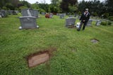A look at the dig for footstones of veterans in Middletown's Mount Olivet Cemetery