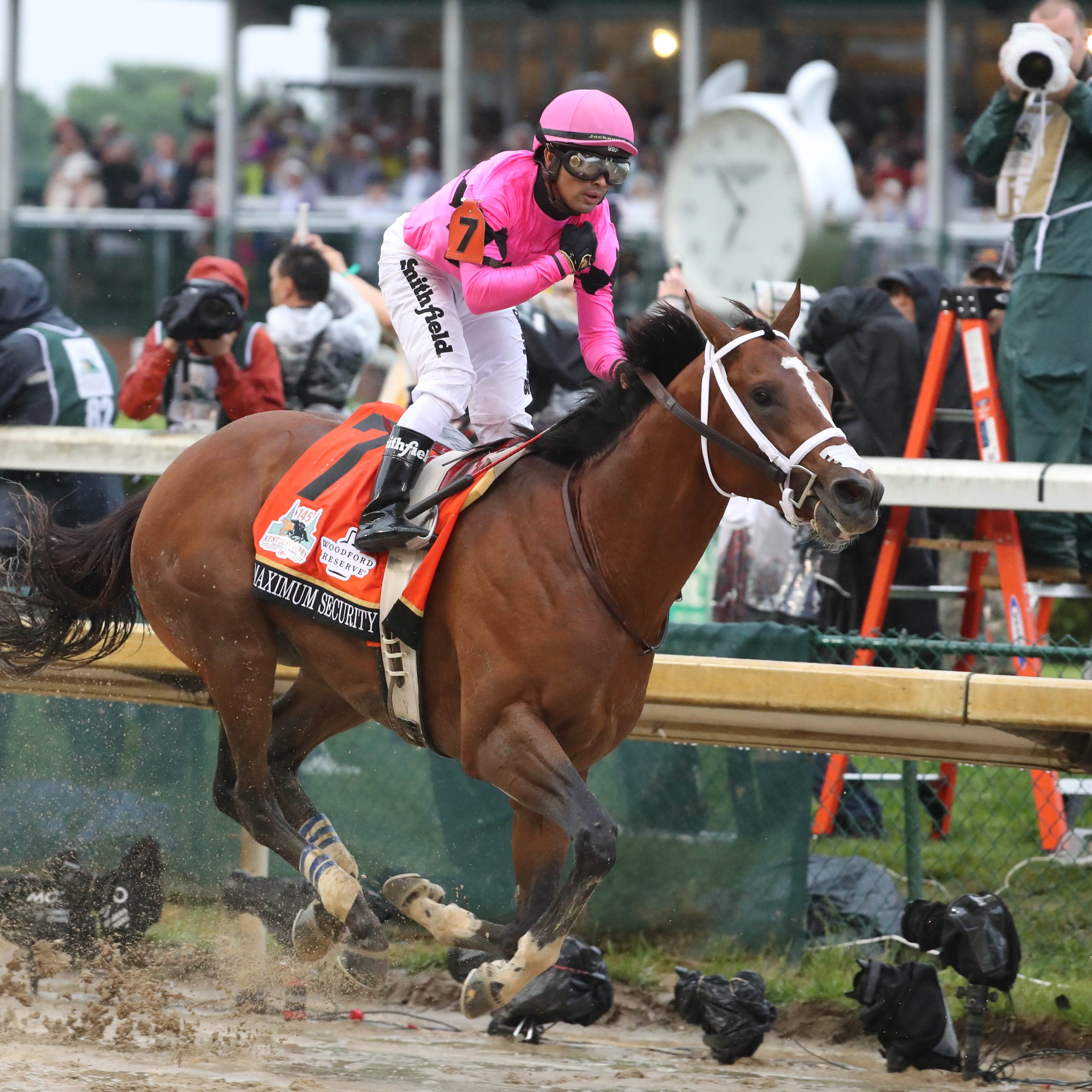 Maximum Security: X-rays negative after Kentucky Derby DQ; unclear when training will resume