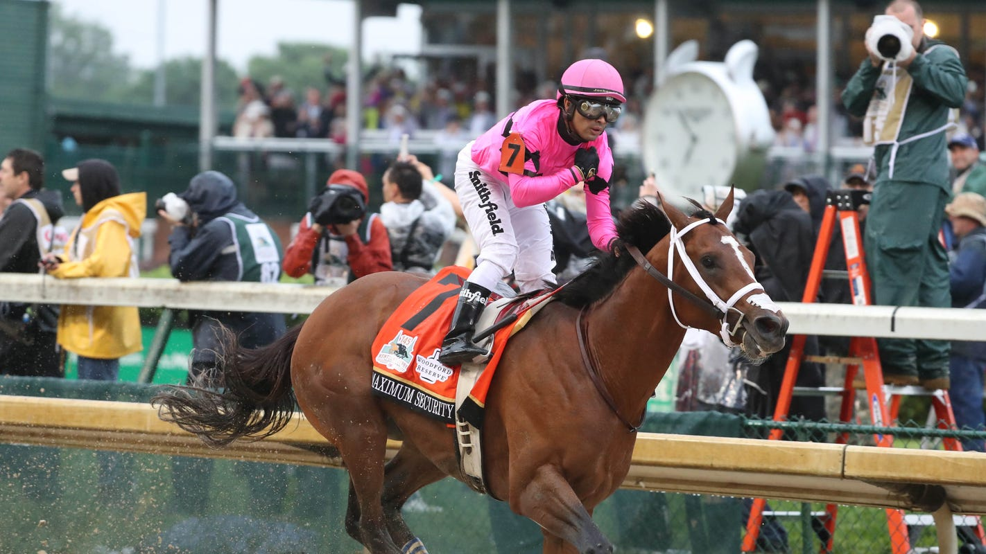 Maximum Security's X-rays negative, training schedule unclear after Kentucky Derby DQ