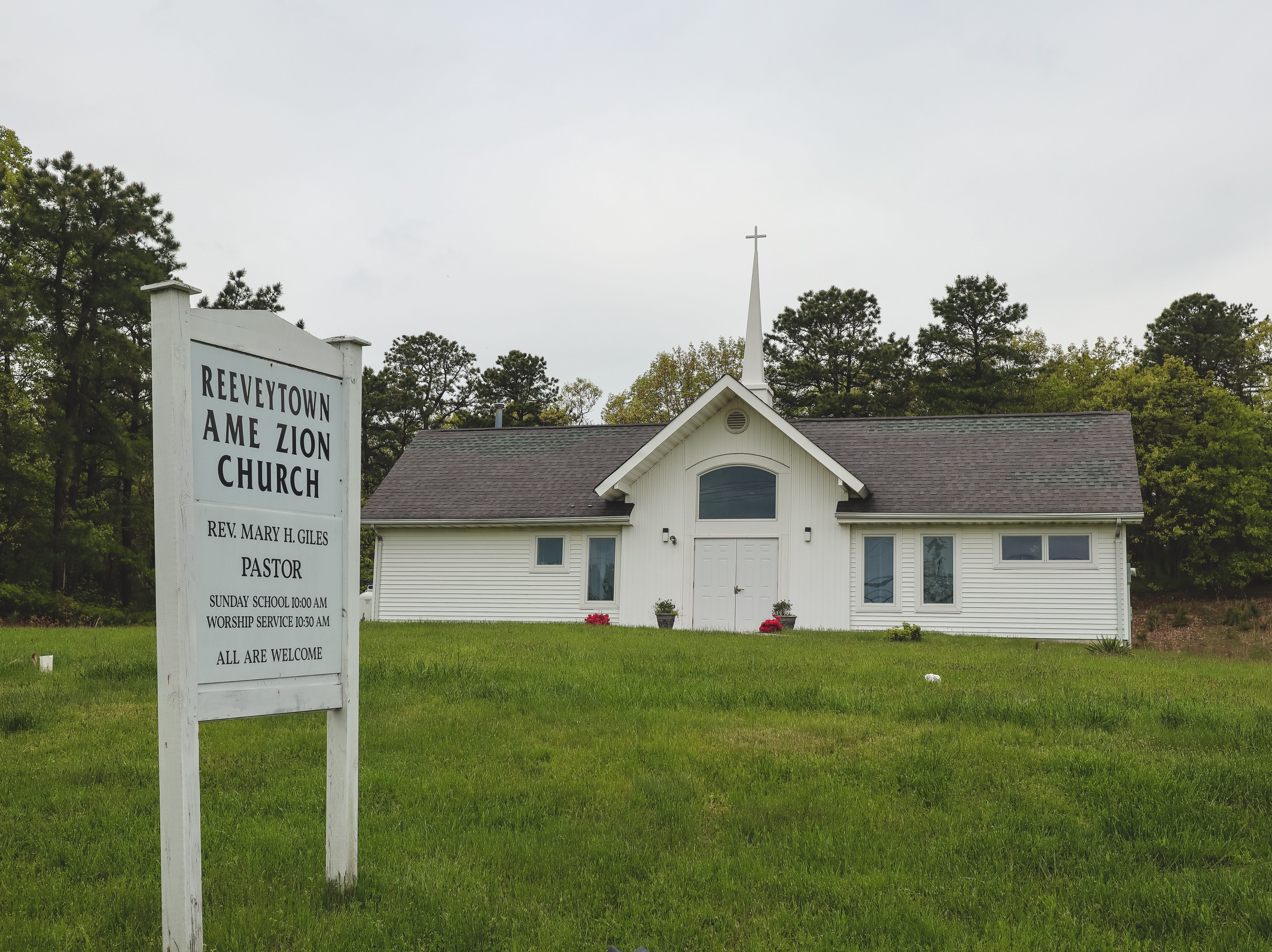 The Reeveytown A.M.E. Zion Church on Shafto Road in Tinton Falls. The church was started in the 1880s. The original church was demolished in 1994 to make way for the Monmouth County Reclamation Center.